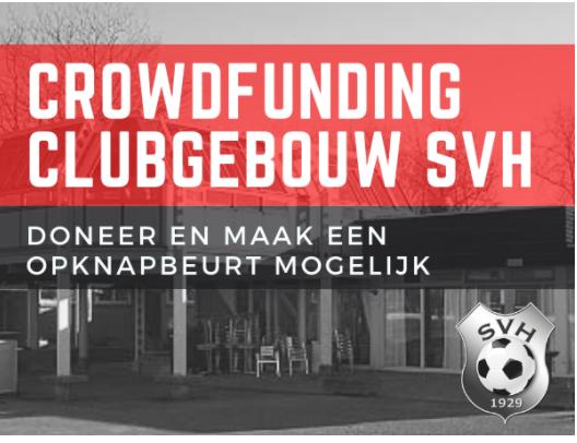 Crowdfunding opknapbeurt clubgebouw SVH